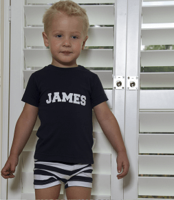 Summer Navy and white Stripe