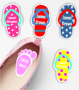 Funky Shoes labels