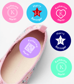 Monogram Shoe Labels