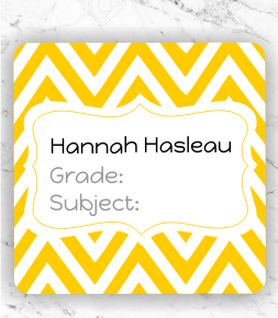 Chevron Subject Labels