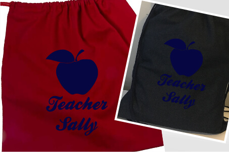 Teachers Apple Navy Flock
