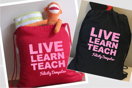 Teachers Live Learn Pink Glitter Vinyl