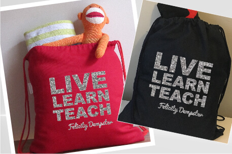 Teachers Live Learn Silver Glitter Vinyl