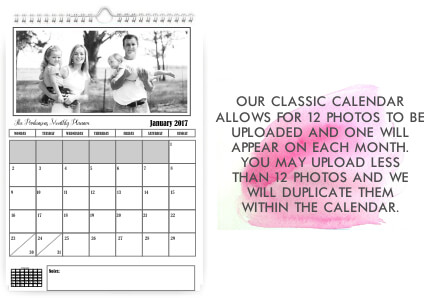 Classic Wall hanging Monthly Calendar