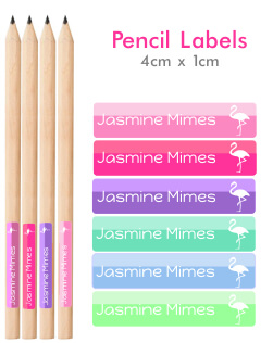 Itsmine products pencil labels two tone pencil labels - Diva futura dvd ...